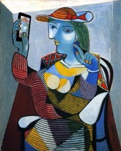 Portrait de Marie Therese Walter di Picasso in stile selfie