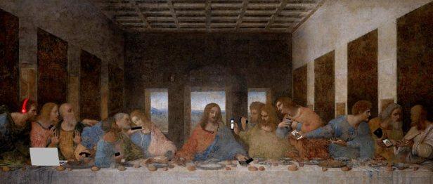 """L'Ultima Cena di Leonardo da Vinci in stile """"social"""""""