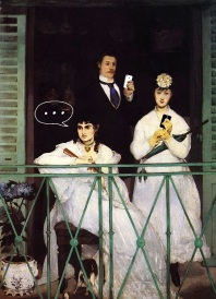 """The Balcony"" by Edouard Manet"