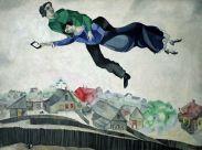 """""""News of kidnapping on Facebook"""" (""""Notizia di un rapimento su Facebook"""") da Sopra la Città di Marc Chagall, 1914-1918"""