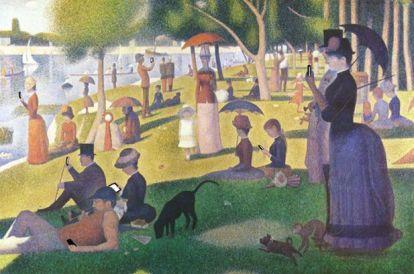 """""""Sunday afternoon"""", (""""Domenica pomeriggio""""), da Una domenica pomeriggio sull'isola della Grande-Jatte di Georges-Pierre Seurat, 1884-1886"""