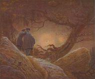 Due amici e la luna - Caspar David Friedrich