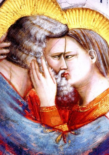 Il saluto di Gioacchino e Sant'Anna-particolare Giotto
