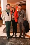 Da sx Giuseppe Picone, Francesca Barbi Marinetti, Christians Donvito