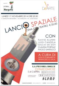 LOCANDINA TEATRO LANCIO SPAZIALE