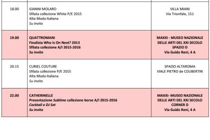 Calendario AltaRoma AltaModa 6