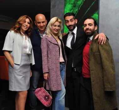 Da sx Tina Vannini, Massimiliano Piccinno, Erika Gottardi, Francesco Salvatore Cagnazzo e Roberto Di Costanzo