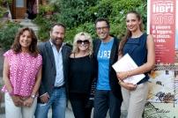 Da sx Denise Pardo, Luigi Bellumori, Antonella Clerici, Luca Bianchini, Ginevra Bersani
