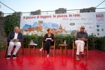Da sx Ernesto Auci, Michela Tamburrino, Chicco Testa