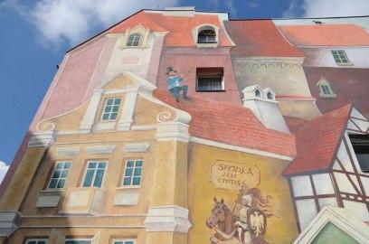 Poznan murales 3d polonia