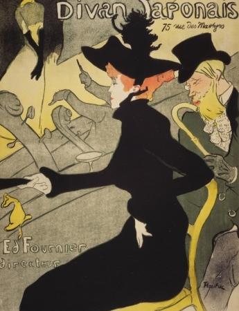 Henri de Toulouse-Lautrec, Divan Japonais, 1892 -1893, Litografia a colori