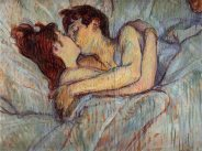 In Bed The Kiss by Henri de Toulouse-Lautrec