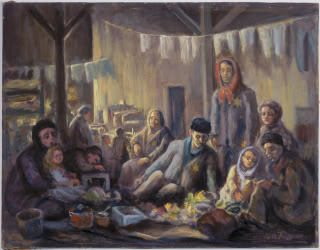 A Garret in the Lodzer Ghetto by David Friedmann