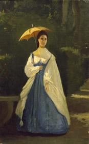 D'Ancona, Signora in giardino