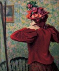 Federico Zandomeneghi, Il giubbetto rosso, 1895 circa, antica collezione Camillo Giussani
