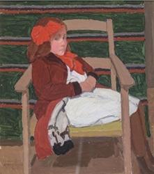 Ghiglia - Bambina con fiocco rosso