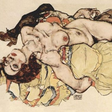Egon Schiele Two women1915