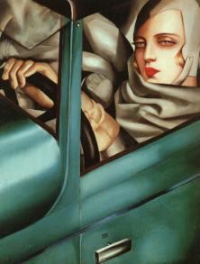 Tamara de Lempicka - Autoritratto nella Bugatti verde 1925