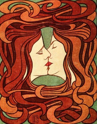 The kiss Peter Behrens