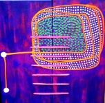 Purple communication Satellite 30x30cm