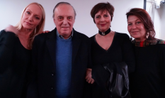 Da sx Fiore Argento, Dario Argento, Mirella D'Angelo e Daniela Barnes