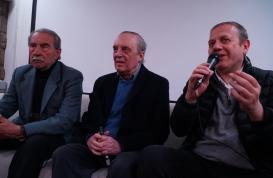 Da sx Franco Bellomo, Dario Argento e Antonio Tentori