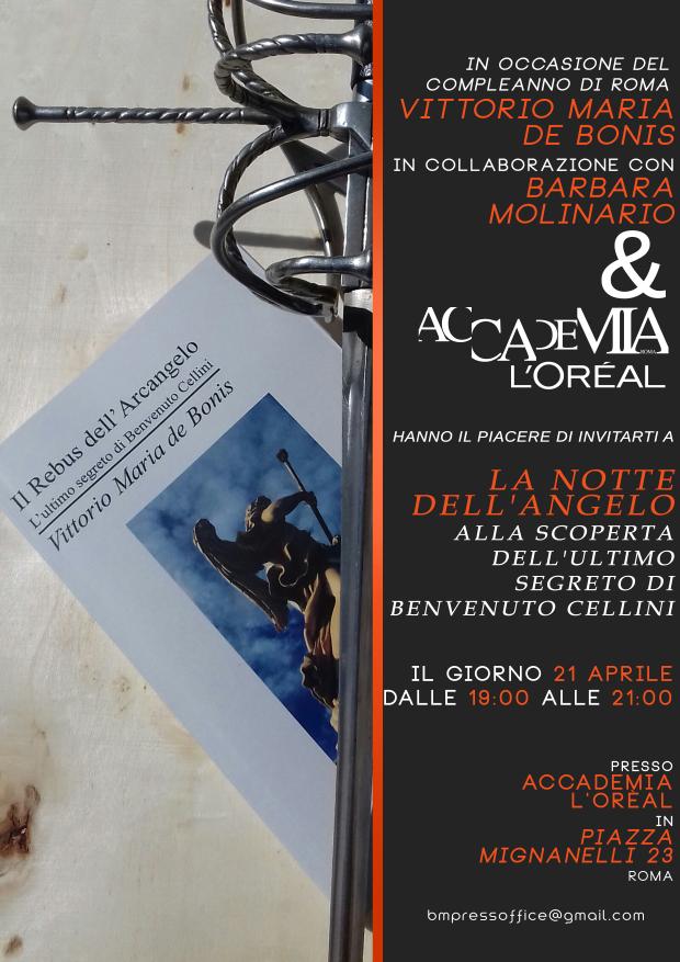 Invito 21 aprile Vittorio de Bonis Barbara Molinario Accademia l'Oreal
