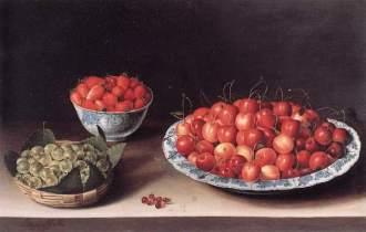 Louise Moillon – Nature morte avec cerises, fraises et groseilles, 1630