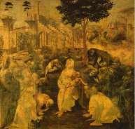 Adoration of the Magi by Leonardo da Vinci (1481)