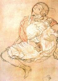 """Gustav Klimt_s """"Frau bei der Selbstbefriedigung"""""""