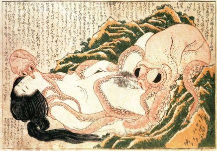 """Katsushika Hokusai_s """"The Dream of the Fisherman_s Wife"""""""