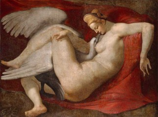 "Peter Paul Rubens_s copy of Michelangelo_s ""Leda and the Swan"""