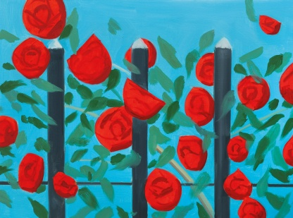 Alex Katz - Red Roses with Blue, 2001