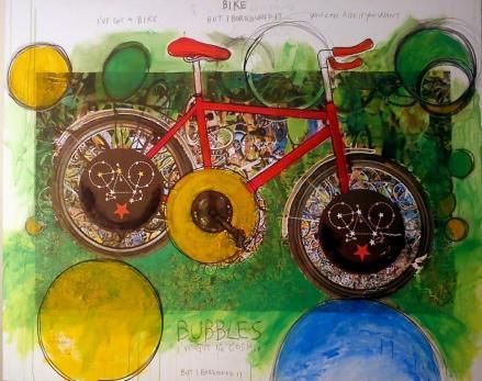 leofreddi_bike bubbles_tm su tela_150x100_2017