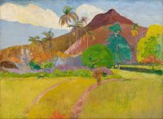 Paul Gauguin. Tahitian Landscape (1891, Minneapolis Institute of Arts)