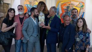 Da sx Chicca Savino, Eugenio Rattà, Roberto Di Costanzo, Roberta Cima, Natino Chirico, Nino Attinà, Antonio Agresti e Valentina Lo Faro.